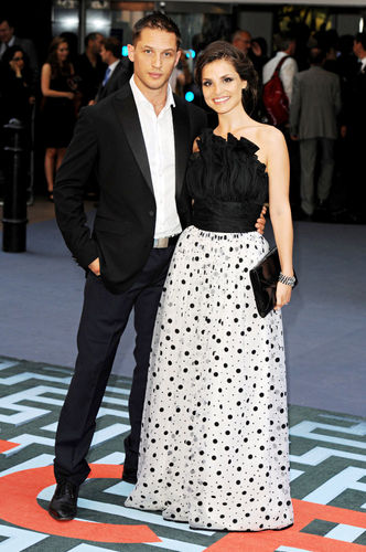Tom Hardy & girlfriend Charlotte Riley on the UK Inception Premiere carpet