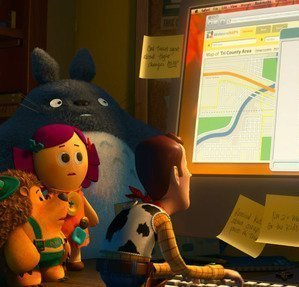 Totoro on Toy Story 3
