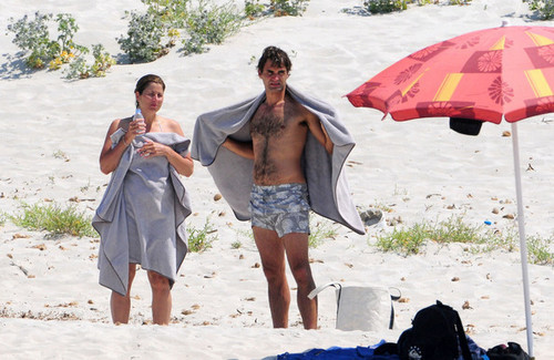 federer mirka пляж, пляжный