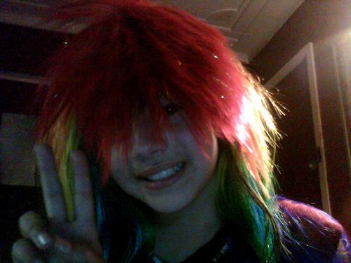 me in wigs xD