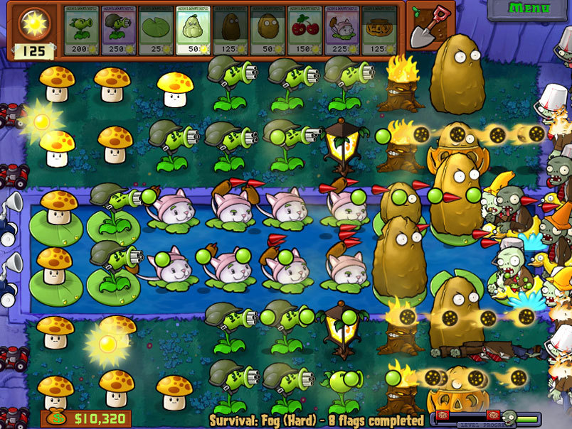 Plants vs zombies plant s zombies scene