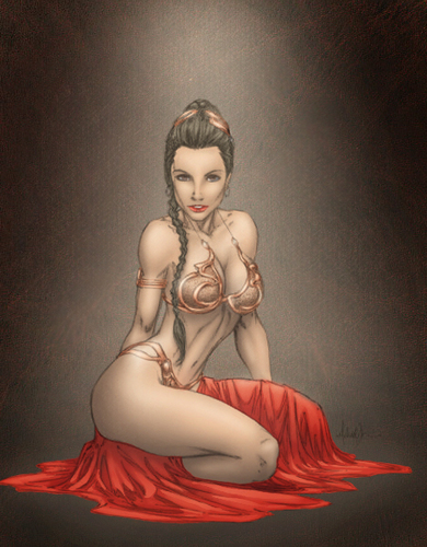 Princess Leia Organa Solo Skywalker wallpaper entitled sexy drawing