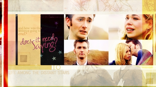 The Doctor and Rose wallpaper titled 10th&Rose