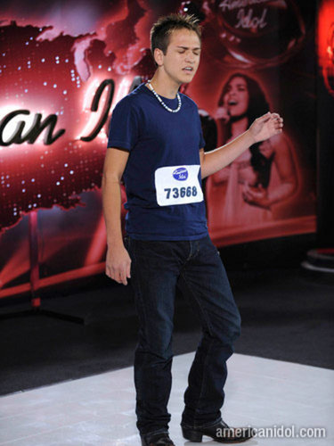 Aaron at his audition