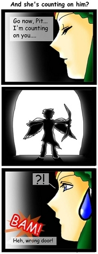 And Palutena count on him