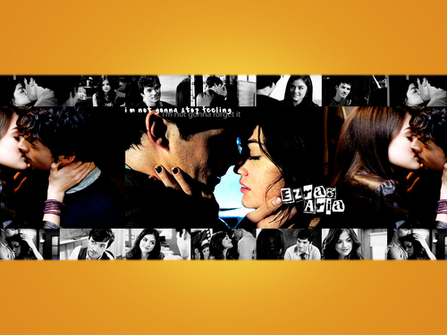 Ezra & Aria wallpaper entitled Aria&Ezra