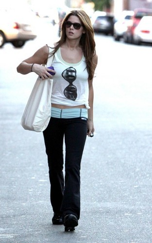 Ashley out in Studio City