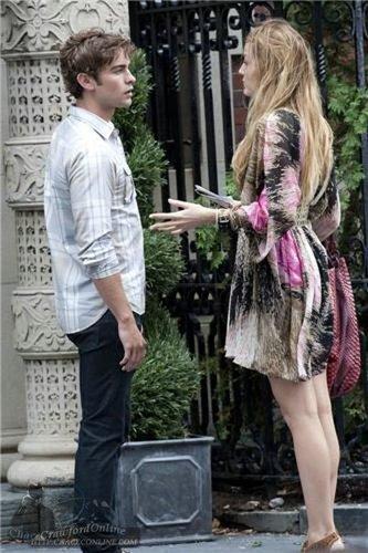 Blake & Chace on set July 14th