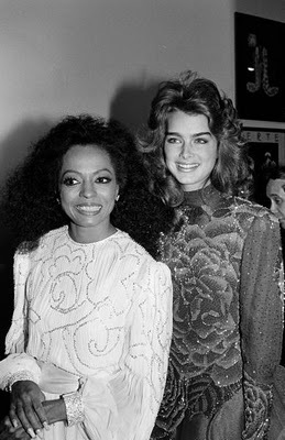 Brooke Shields and Diana Ross
