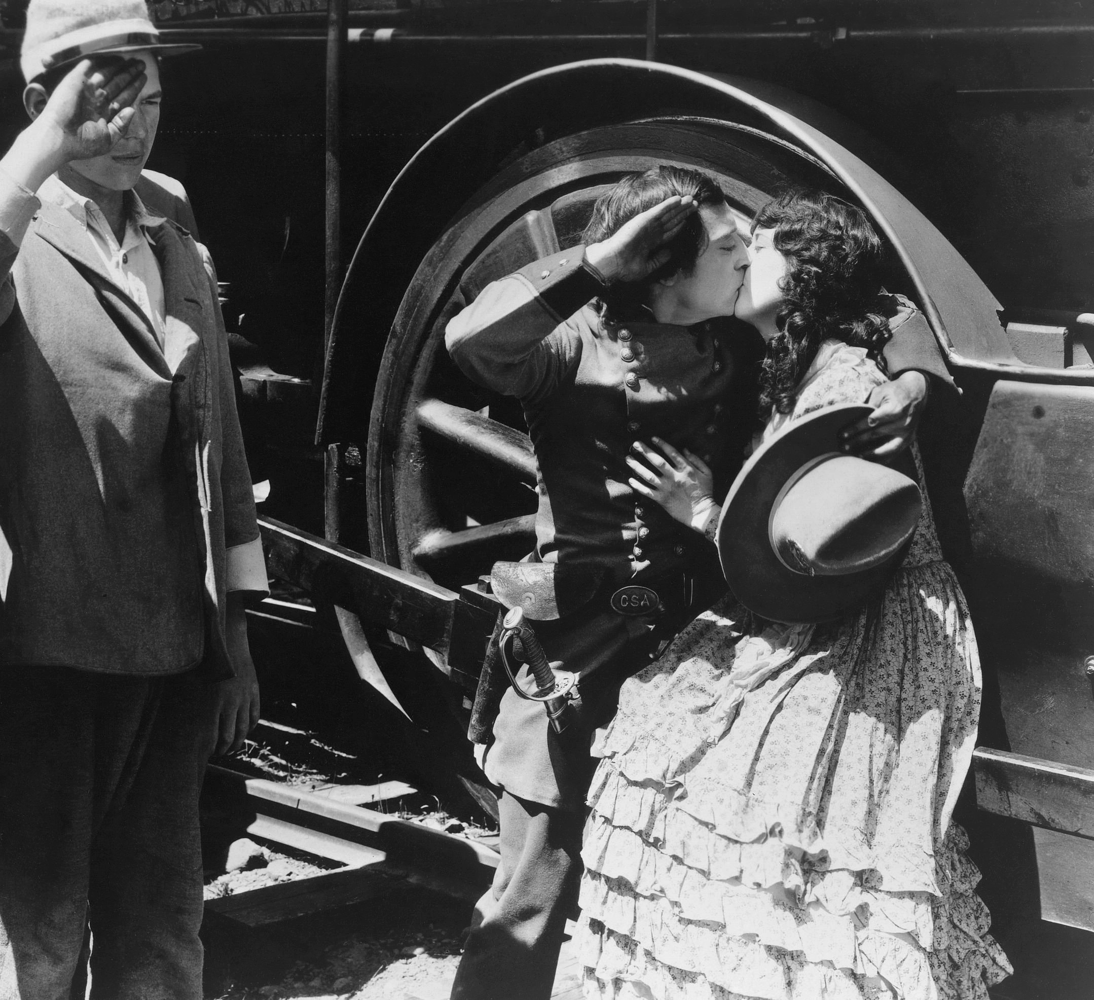an analysis of the portrayal of the character of johnnie in the general a film by buster keaton Look at this extended scene shot by shot (from johnnie's sounds in a silent film shots are used to show characters buster keaton - the general.