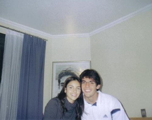 Carol and Kaka in his apartment in Milan