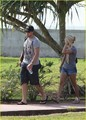 Carrie & Mike out in Tahiti - carrie-underwood photo