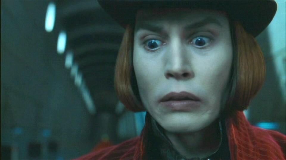 Johnny depp willy wonka makeup