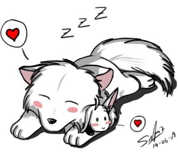 ちび White 狼, オオカミ