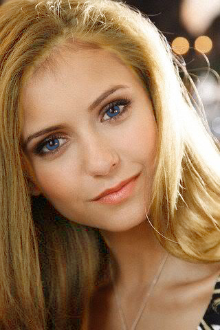 Elena with blonde hair