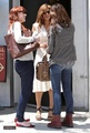 Eva out for lunch at the Hall Courtyard Brasserie with Jessica Alba in West Hollywood - eva-mendes photo