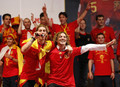 FIFA 2010 World Cup Champions Spain Victory Parade And Celebrations(Sergio Ramos)