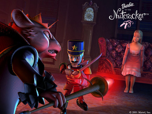 Barbie in the Nutcracker achtergrond titled First battle