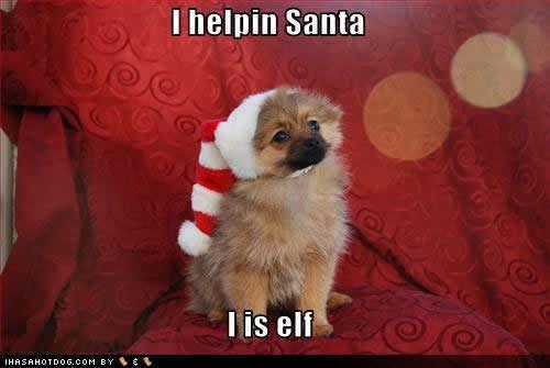 I helpin Santa !!