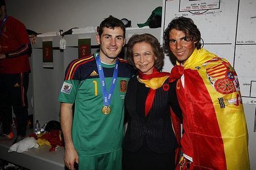 Iker, Rafael y la reina Sofía