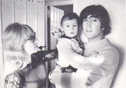 John, Cynthia, and little Julian