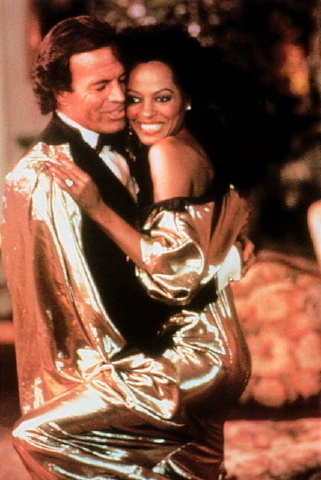 Julio and Diana Ross