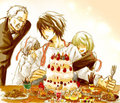 L, Watari, Near, Mello - death-note fan art