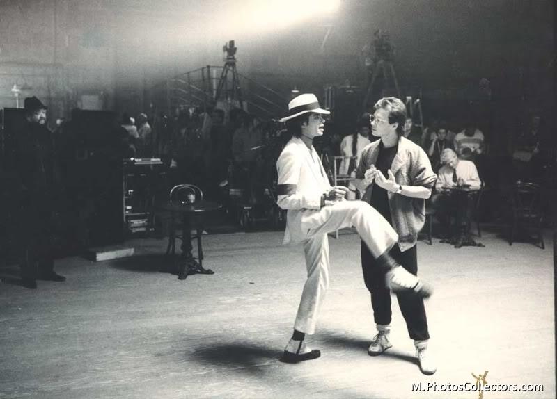 MJ Moonwalker...On Set.
