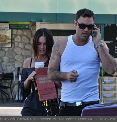 Megan & Brian out in LA