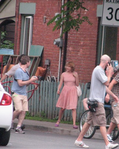 "Michelle Williams on the Set from her new Movie ""Take This Waltz"""