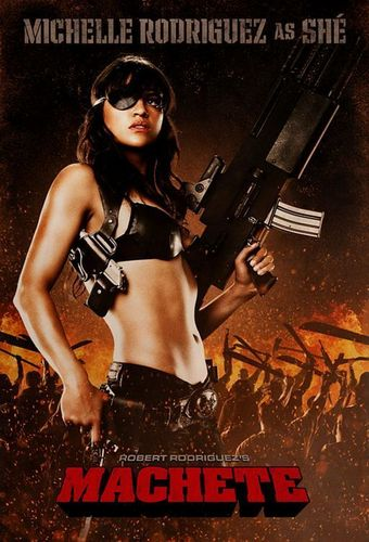 Michelle in Machete Poster