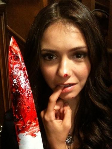 Nina Dobrev - Season 2 filming!