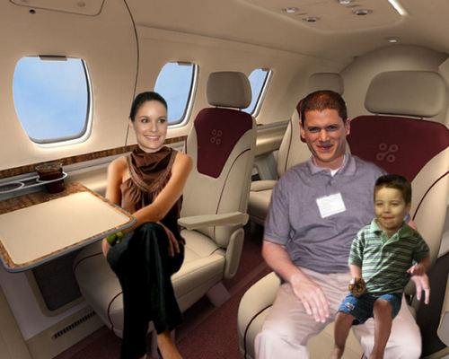 Prison Break - Season 5 - Michael, Sara, MJ in a plane