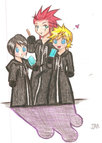 Roxas,Xion,and Axel