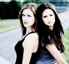 The Vampire Diaries TV toon foto called SARA CANNING and NINA DOBREV