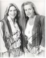 Sandy & Cherie Autographs - 2001