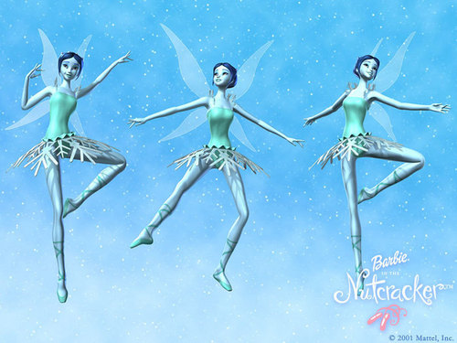 Barbie in the Nutcracker achtergrond titled Snow fairies