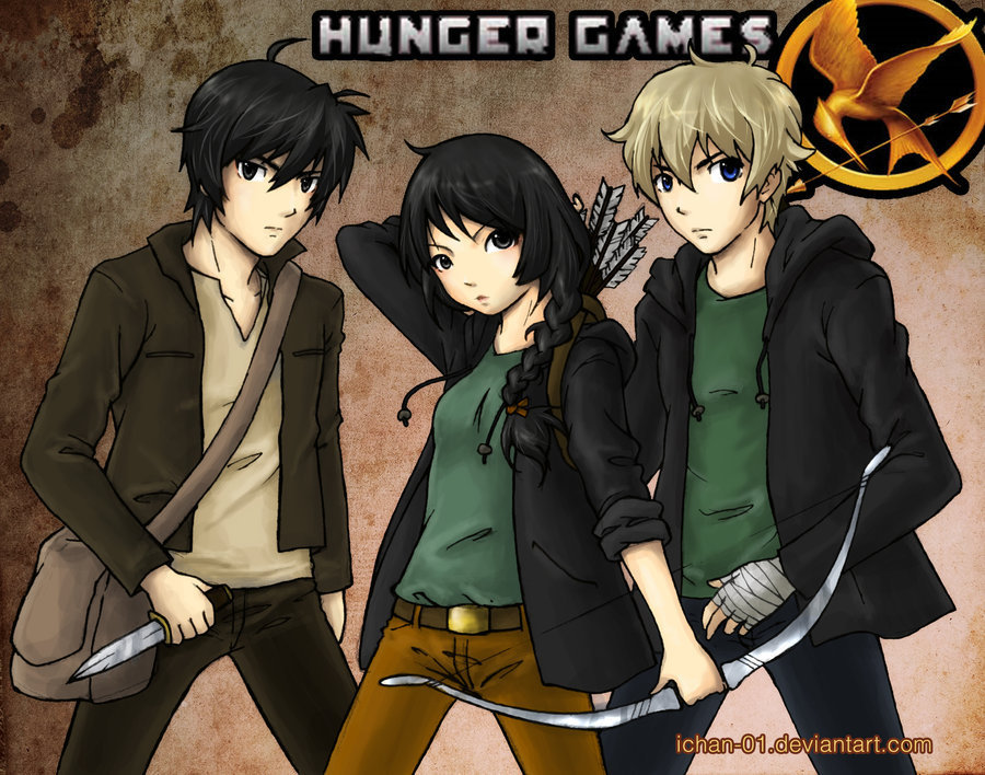 Anime Characters Games : The hunger games fan art