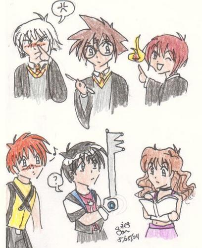 if kingdom hearts came to hogwarts! :)