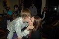 kissing his mom