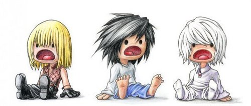 Death Note achtergrond called little L, Near and Mello