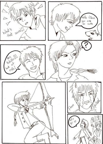 peeta and katniss comic