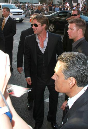 "Angelina Jolie and Brad Pitt at the LA premiere of ""Salt"" (July 19)"