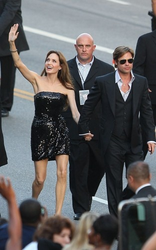 "Angelina Jolie and Brad Pitt at the LA premiere of ""Salt"" (July 19)"