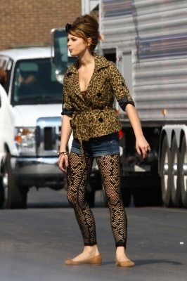 "Ashley Greene on the set of ""LOL"""