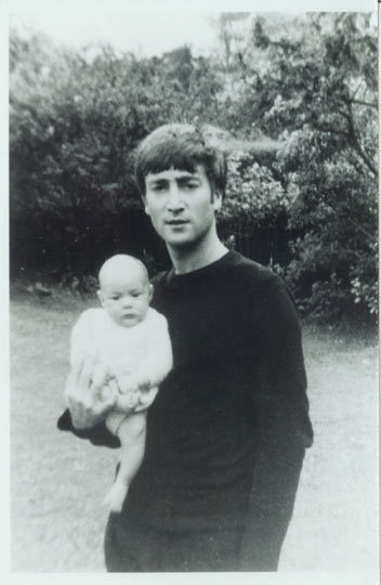 Baby Julian with a very young John