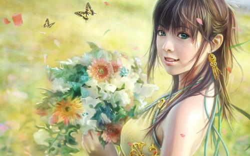 CG beautiful girl wallpaper oleh I-Chen Lin Taiwan