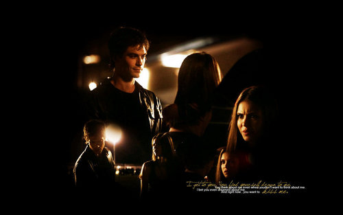Damon & Elena wallpaper titled DE