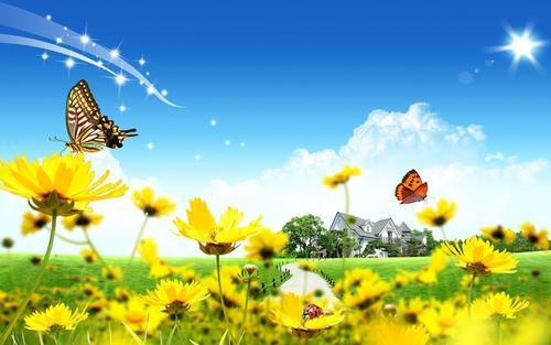 ndoto Landscape karatasi za kupamba ukuta