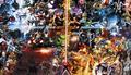 Final War / Marvel & DC karatasi la kupamba ukuta 73 Charcaters